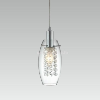 LUXERA 68014 SEMPRE 1xE14/60W, CHROME/CRYSTAL