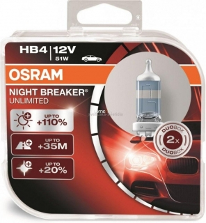 Osram Night Breaker Unlimited 9006NBU HB4 +110% 2ks/bal.
